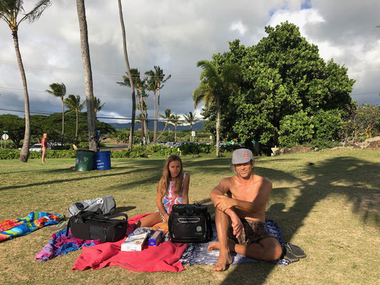 Picnic at Poipu Beach Park