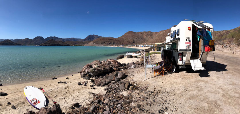 This amazing turquoise bay just off Mulege..