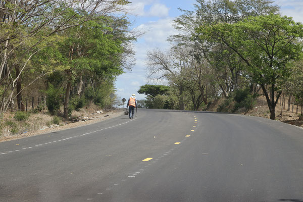 Road works - the panamericana was in surprisingly good condition in Honduras