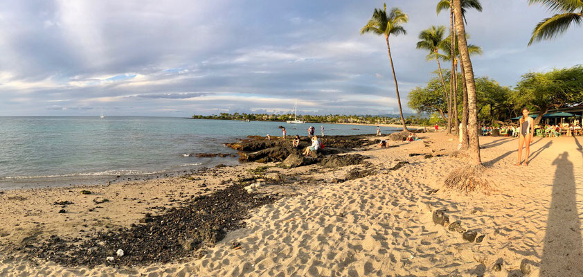 Scenic View into the Bay of Lava Lava Beach
