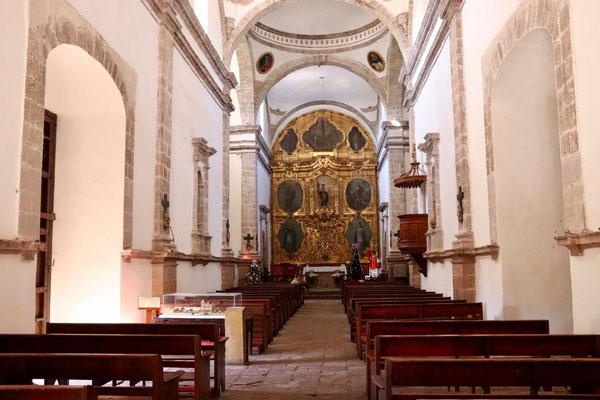 ..inside of the San Ignacio Church