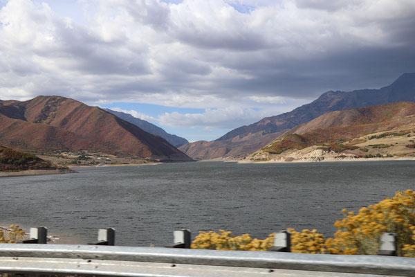Reservoir close to Salt Lake City