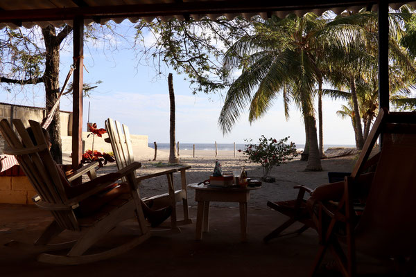...our patio in Los Cocos over looking the Popoyo Beach