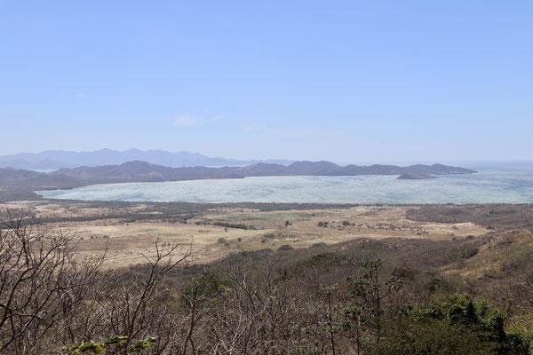 Looking down into Bahia de Salinas from La Cruz on the north west pacific coast of Costa Rica