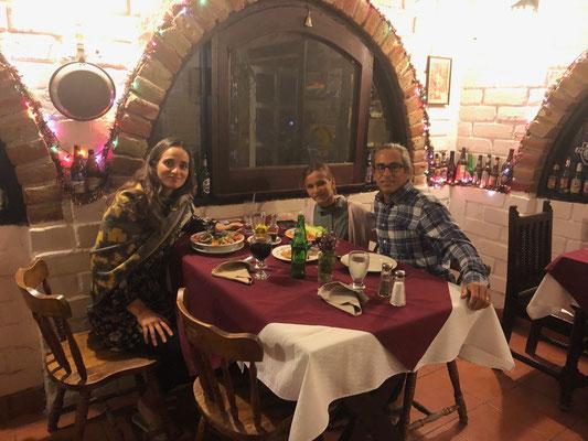 Xmas Dinner in Restaurant Malarrimo in Guerrero Negro..