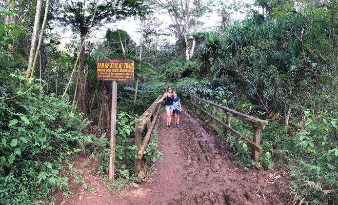 End of Kuilau Ridge Trail