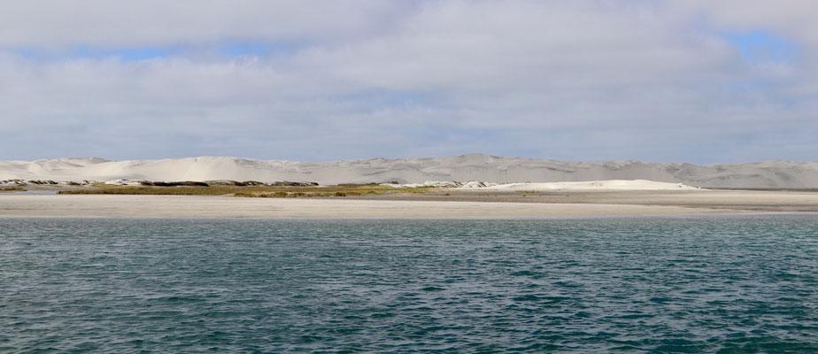 White sand dunes around the Lagoon of Guerrero Negro.