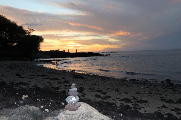 Sonnenuntergangam Lava Lava Beach