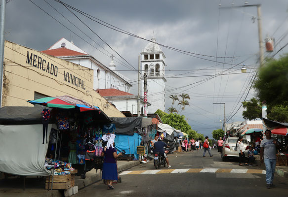 Here a typical market road in a small village called Juayua