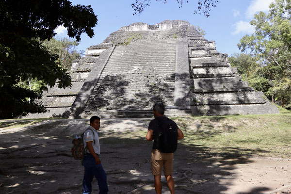 One of the many reconstructed Pyramids in Tikal - Jose Luis our Tikal guide told us a lot about the classic mayan period