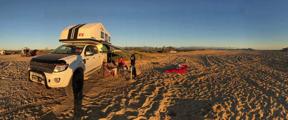 ...a great place to camp right on the beach..