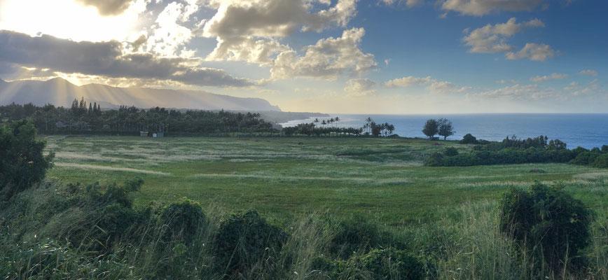 View down to Anini Beach