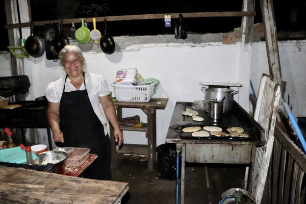 Adela made the best Pupusa's in El Salvador