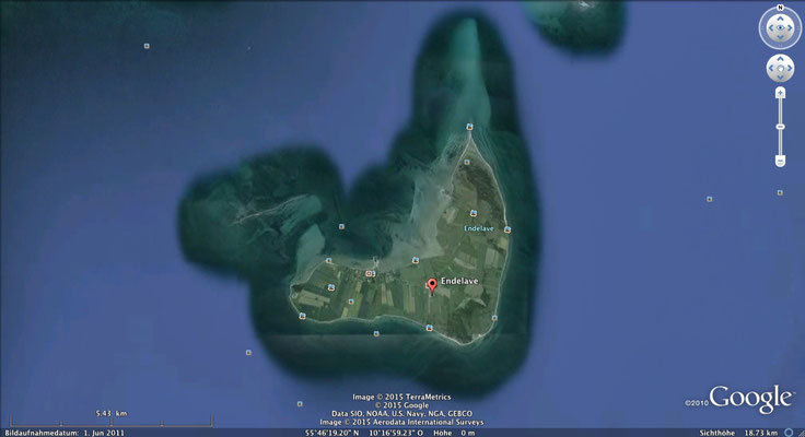 Endelave- google maps