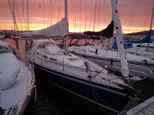 Sonnenuntergang auf Lyø.