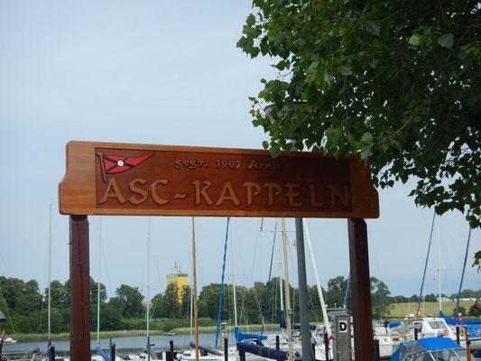 Unser Liegeplatz beim ASC in Kappeln