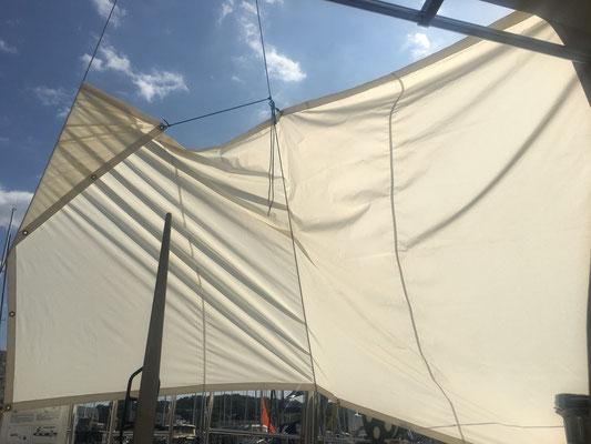 In Sonwik hilft nur das Sonnensegel bei 30°