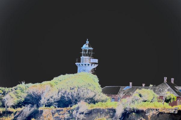 Leuchtturm Æbelø verfremdet