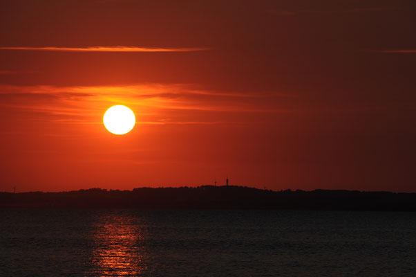Sonnenuntergang über Juelsminde