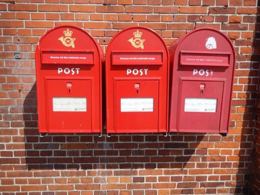 Dänische Briefkästen