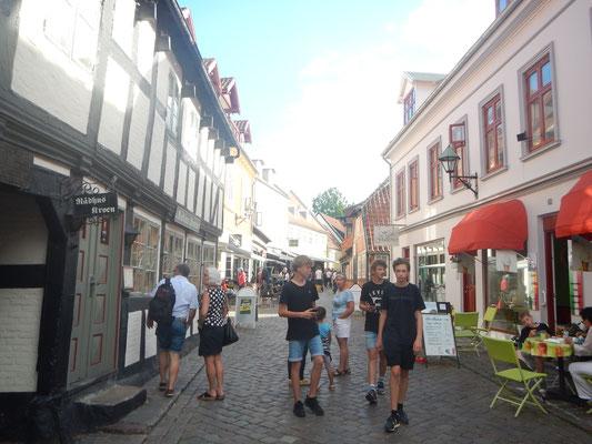 Einkaufsstraße in Ebeltoft