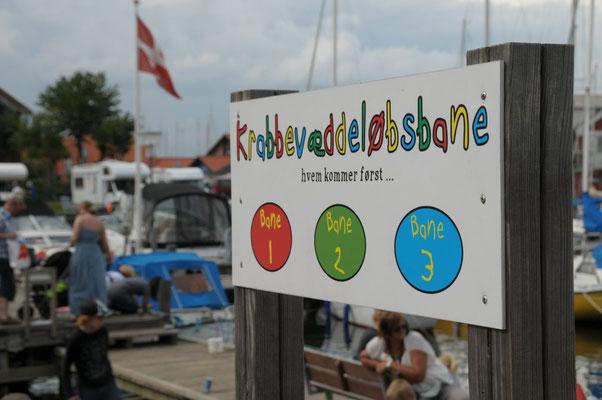 Krabbeveddeløbsbane- Krabenwettlaufbahn- Juelsminde