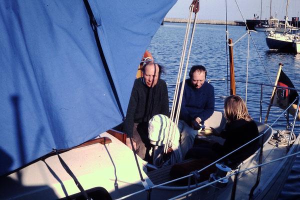 Onkel Bernhard, Vater Hans und ? auf Helgoland