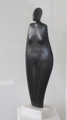 """""""Figura africana"""" - Rovere annerito, h = 74 cm"""