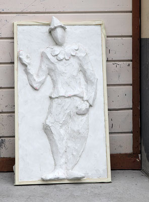 """""""Arlecchino"""" - Calco in scagliola, 60 / 84 cm"""