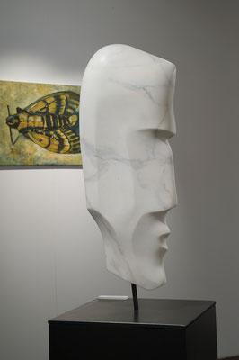 """Testa del Ténéré"" - Statuario Carrara, h = 76 cm"