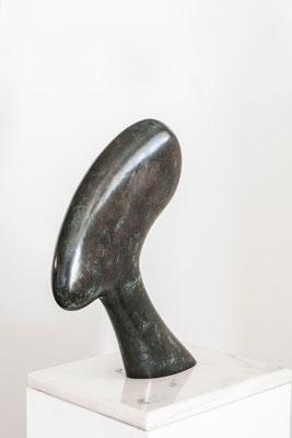 """Testa africana"" - Bronzo, h = 62.5 cm"