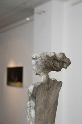 """""""Figura appiattita"""" - Bronzo, h = 61 cm : dettaglio"""