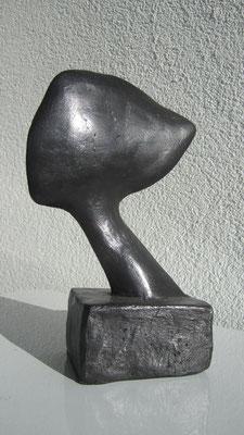 """""""Testa piatta"""" - Bronzetto, h = 18.5 cm"""