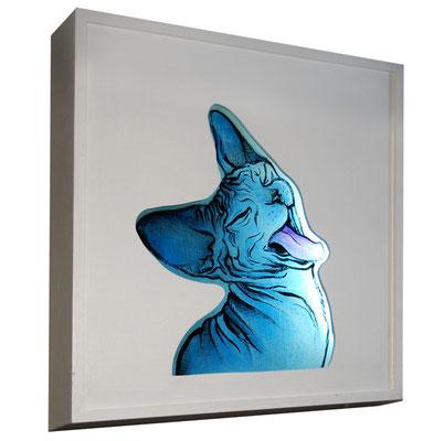 glas in lood in lichtbak. / stained glass art in lightbox