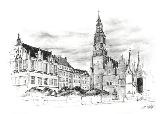 Zeichnung - Breslau