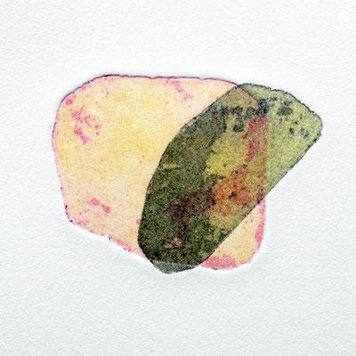The delicacy of stones II, intaglio & Hayter technique, 2 pl.