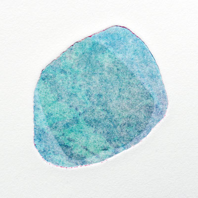 The delicacy of stones I, intaglio & Hayter technique