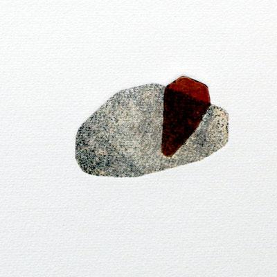 Tiny stony friends II, intaglio & Hayter technique, 2 pl.