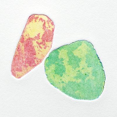 The delicacy of stones IV, intaglio & Hayter technique, 2 pl.