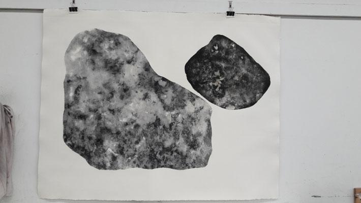 Carborundum print II, about 120 x 160 cm (paper size), 2017