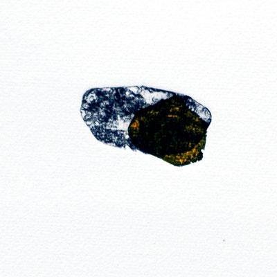 Tiny stony friends IV, intaglio & Hayter technique, 2 pl.