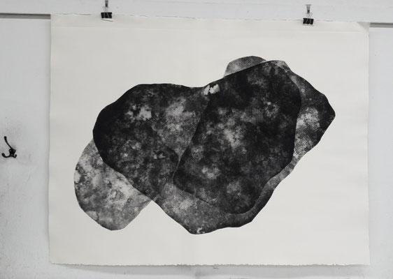 Carborundum print I, about 120 x 160 cm (paper size), 2017