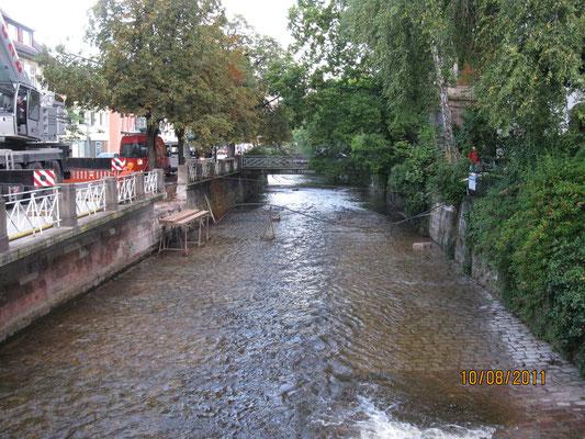 Neubau einer Brücke in Baden Baden über Oos