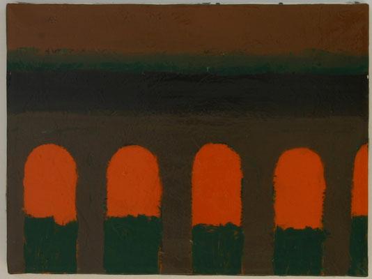 Bögen, Öl auf Leinwand 2001, 30 x 40 cm