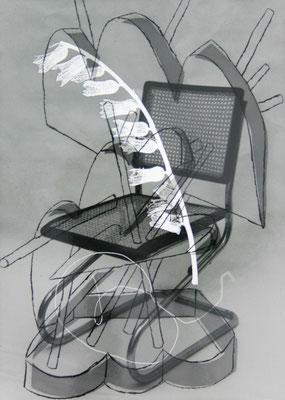 Pidder Auberger, s/w Foto, Chliché verre 51, Einzelabzug, 2000, 25,9 x 18,3 cm