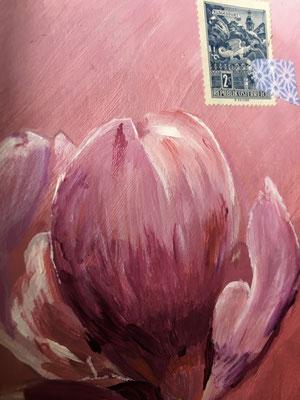 Magnolia, Acrylique VENDU