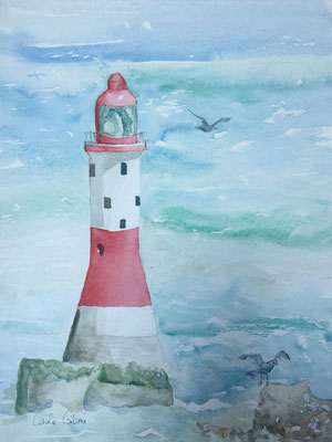 Le Phare, aquarelle 30x40