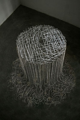 """""""Chaos besiegen"""", 2013, Glas Bindfaden"""