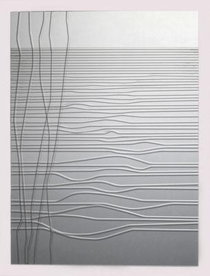 """""""Lichtzeichnung4"""", 2011, Glasrohre im Hozrahmen 30x40cm"""