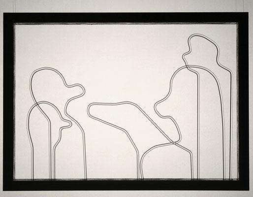 """""""Auf den Hund gekommen"""", 2011, Glas im Rahmen, 20x30cm"""